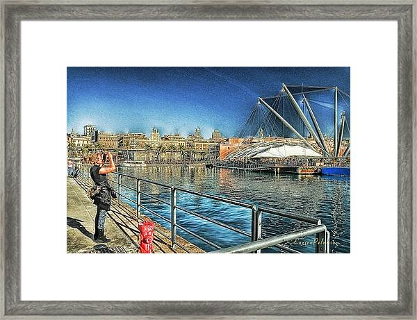 Genova Saint George Building Facade And Expo Area Photographer Framed Print