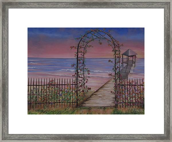 Gentle Trellis Of Roses Framed Print