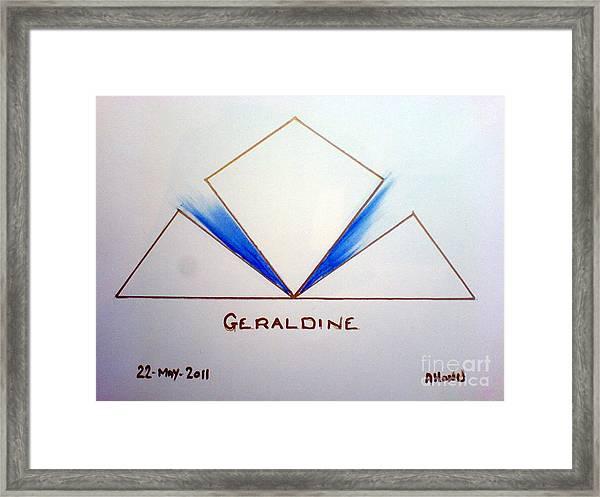 Geraldine Framed Print