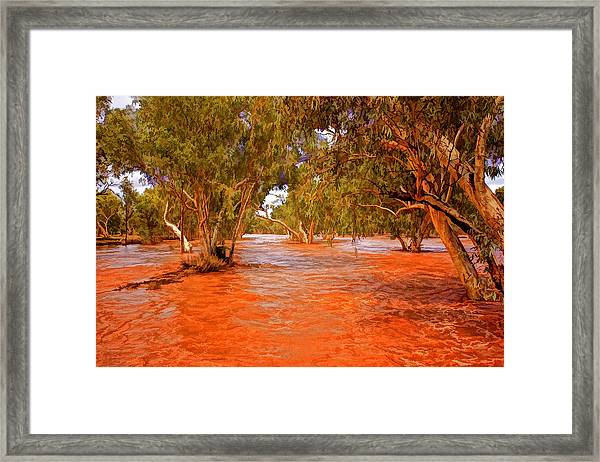 Ghost Gums In The Todd Framed Print