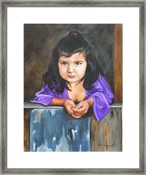 Girl From San Luis Framed Print