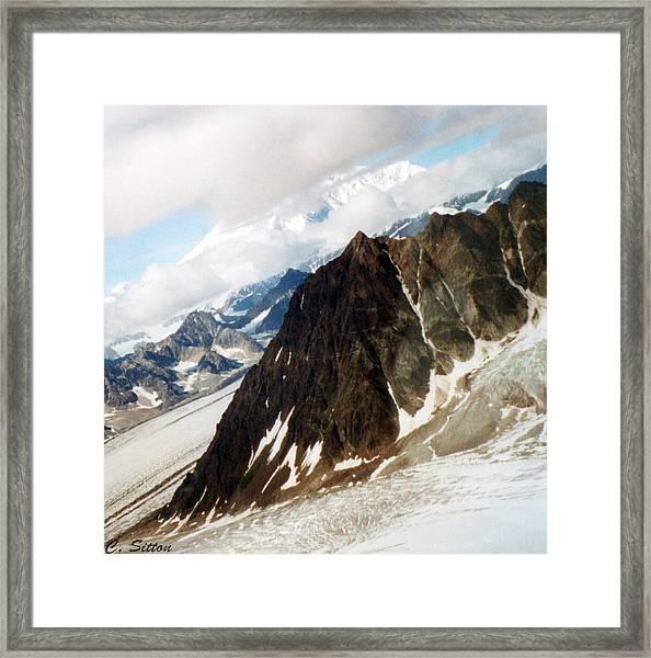 Glacier Flight 2 Framed Print