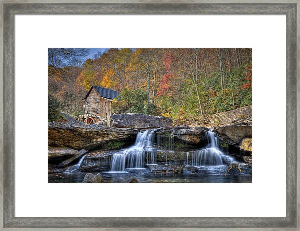 Framed Print featuring the photograph Glade Creek Grist Mill At Babcock by Williams-Cairns Photography LLC