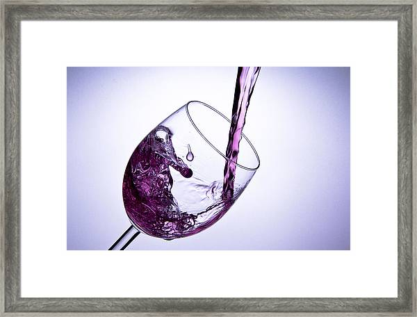 Glas Whit Water 2 Framed Print by Christoffer Rathjen