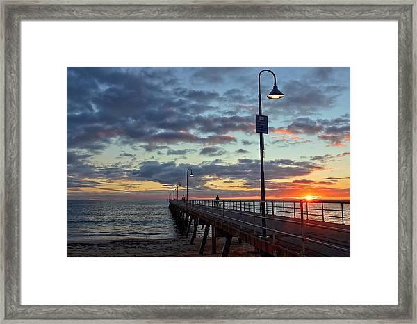 Glenelg Sunset Framed Print