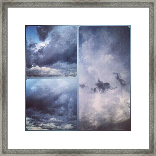 God Is The Ultimate Painter... #nature Framed Print
