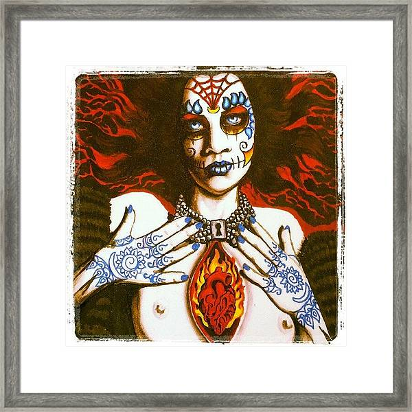 Goddess Of Desire Framed Print