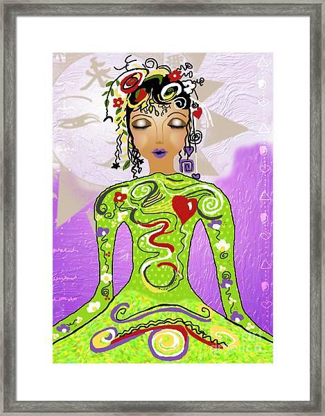 Goddess Of Yoga Framed Print by Gia Simone