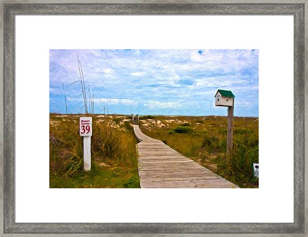 Going To The Beach Framed Print