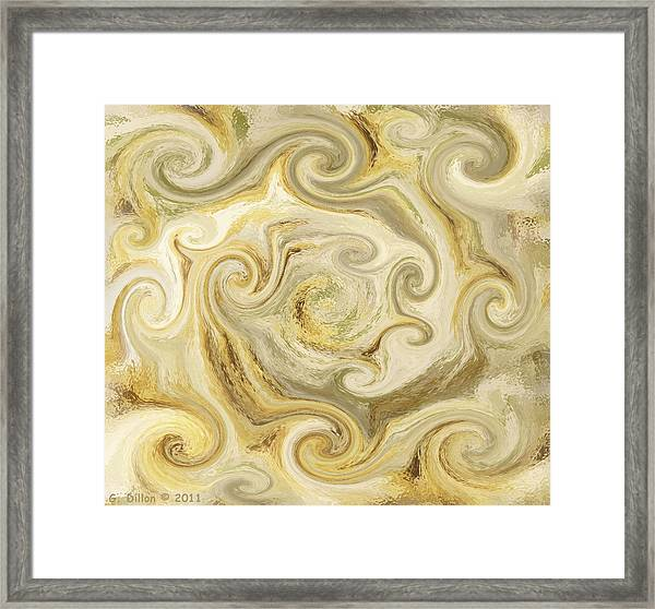 Golden Blend Framed Print