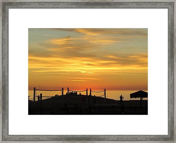 Golden Coast Sunset Framed Print