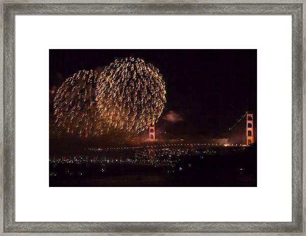 Golden Gate 75th Fireworks 35 Framed Print