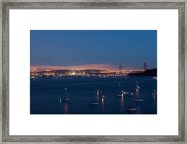 Golden Gate 75th Fireworks The Gathering Framed Print