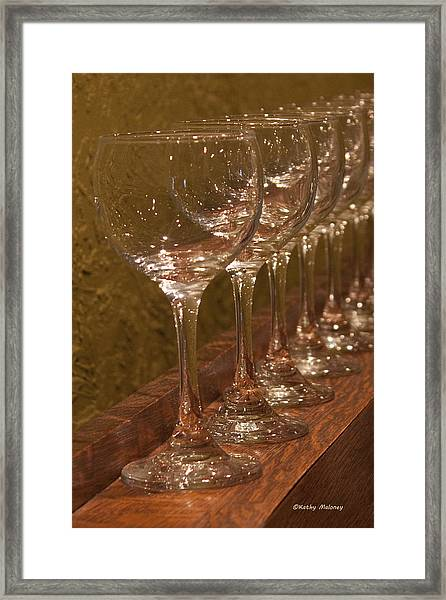 Golden Glasses Framed Print