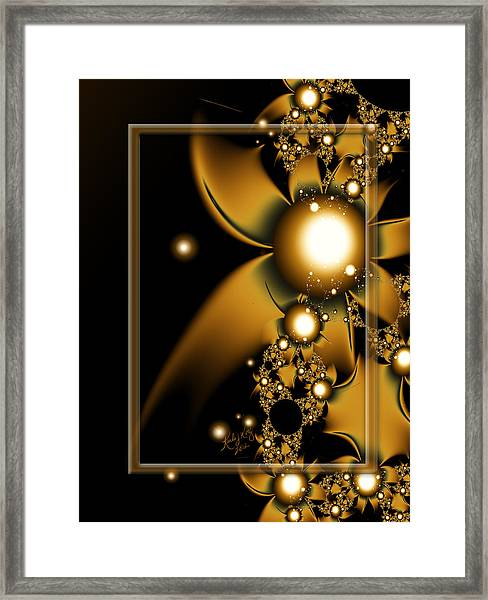 Golden Luxury Framed Print
