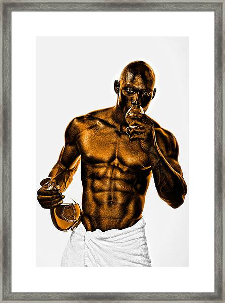 Golden Man Framed Print