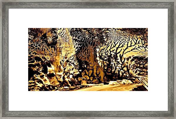 Golden Wonderland Framed Print by Gloria Warren