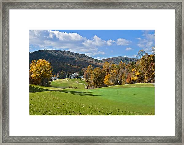Golf Course In Autumn Framed Print