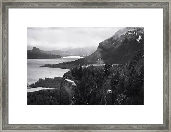 Gorge Winter Framed Print