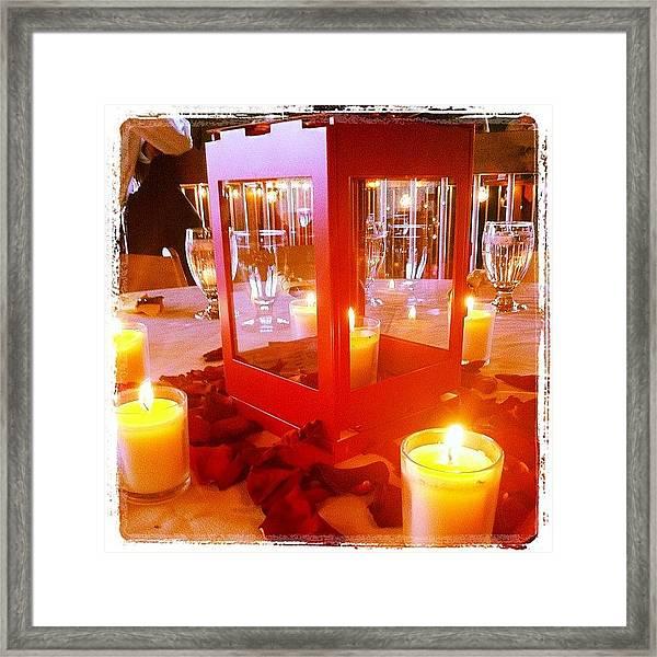 Gorgeous Wedding Center Pieces Framed Print