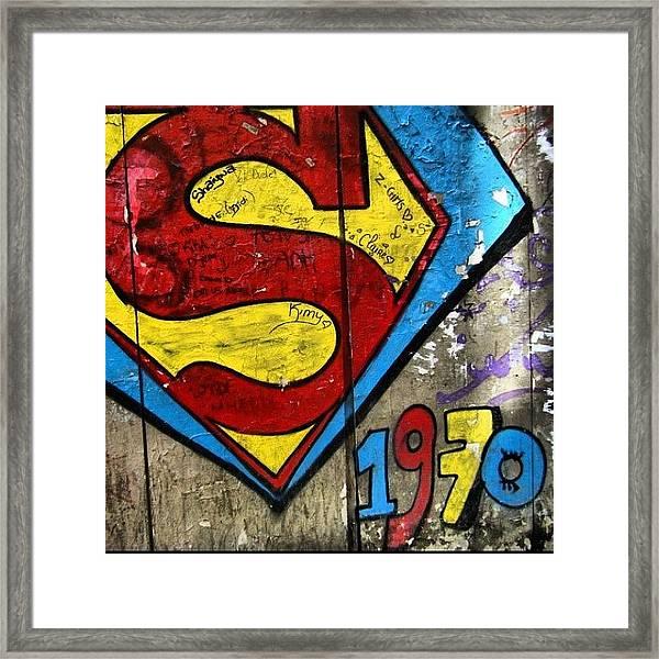 #grafetti #superman #1970 #paris Framed Print