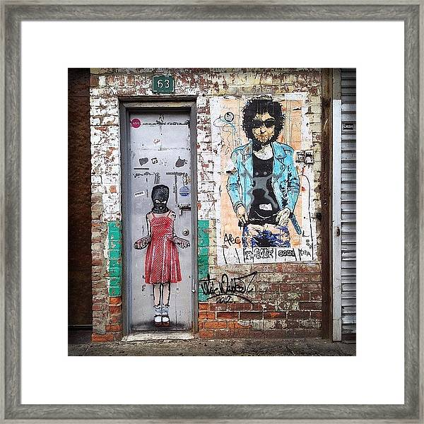 Graffiti Artist Framed Print