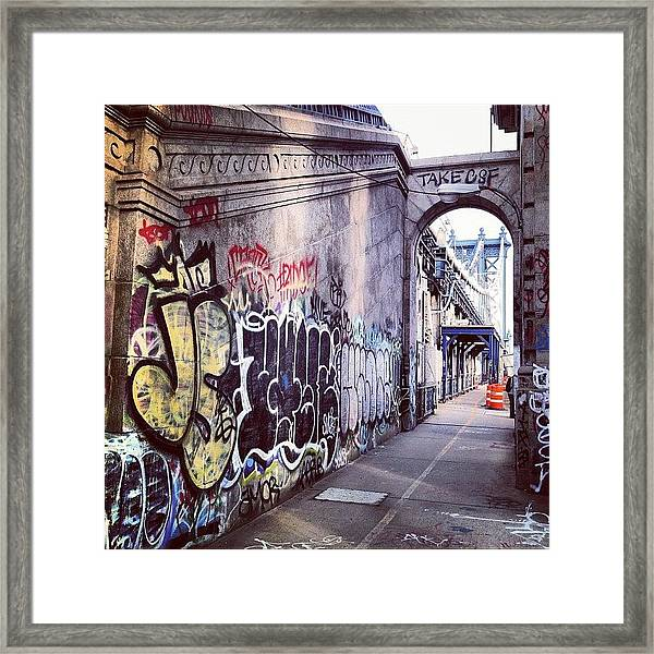 Graffiti Bridge Framed Print