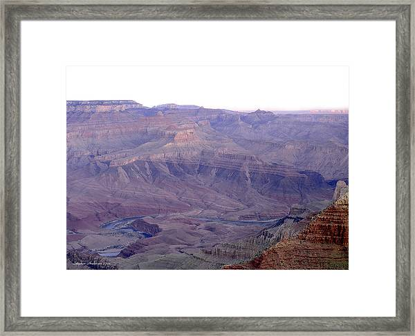 Grand Canyon Pastiche Framed Print