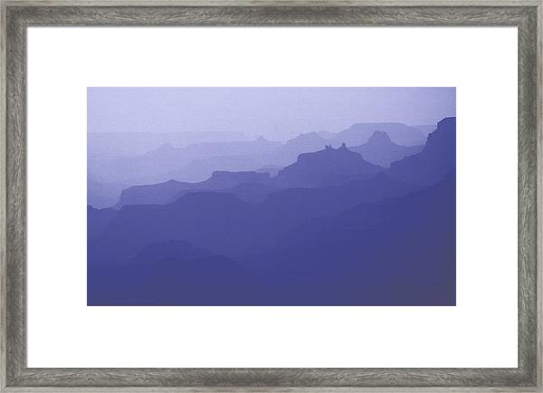 Grand Canyon Silhouettes Framed Print