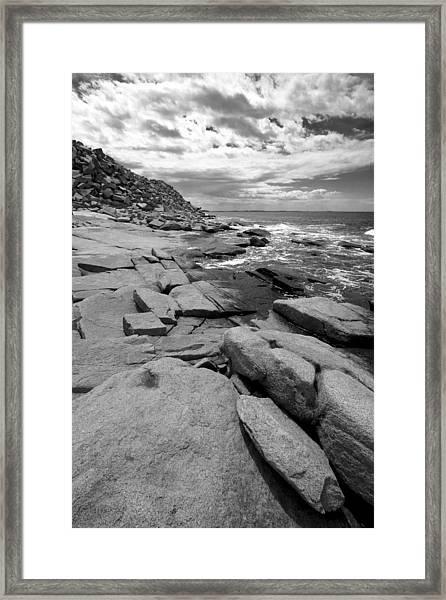 Granite Shore Framed Print