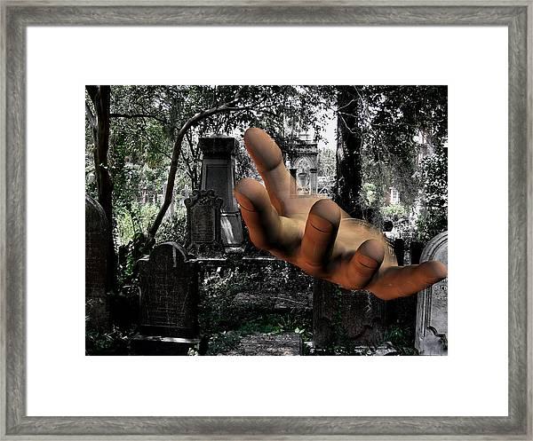 Grave Yard Hand Framed Print by Tea Aira