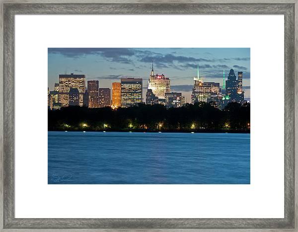 Great Pond Skyline Framed Print