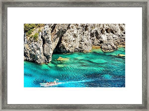 Greece Corfu Island Framed Print by Meeli Sonn
