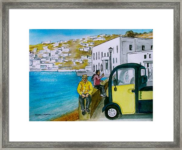 Greek Island Of Mykonis Framed Print