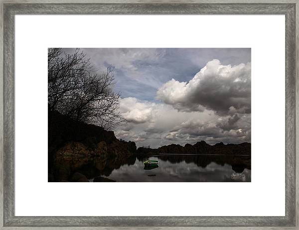 Green Dingy In The Dells Framed Print