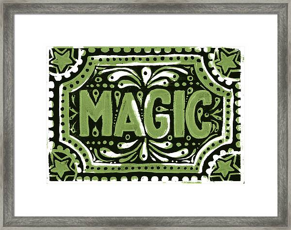 Green Magic Framed Print