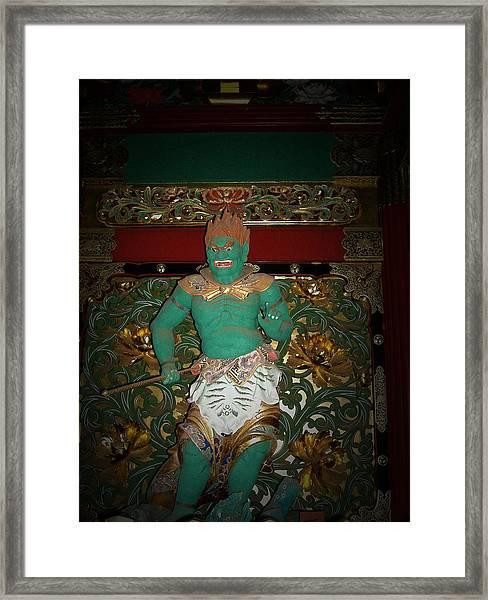 Green Sculpture Framed Print