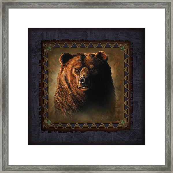 Grizzly Lodge Framed Print