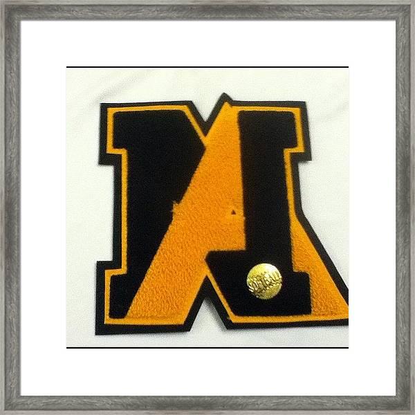 Guess Who Lettered!?! #letter #softball Framed Print