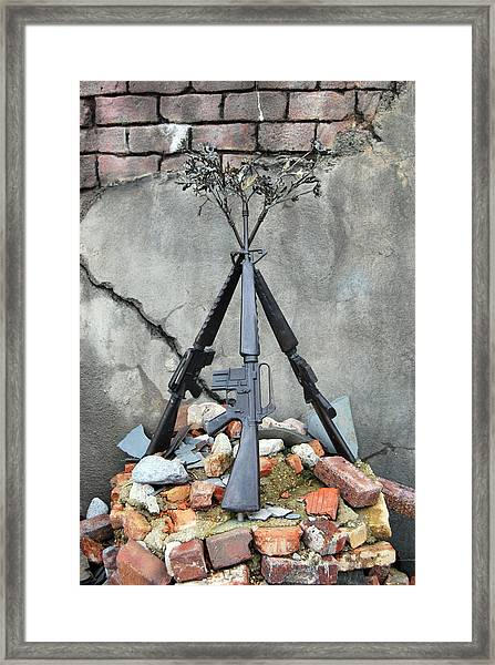 Guns Of War - Color Framed Print