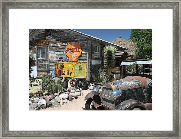 Hackberry Signs   Arizona Route 66 Framed Print