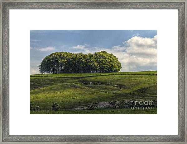 Hackpen Hill Framed Print