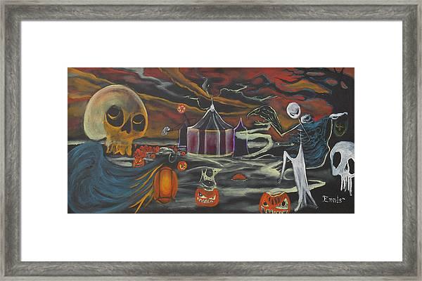 Halloween Circus Framed Print