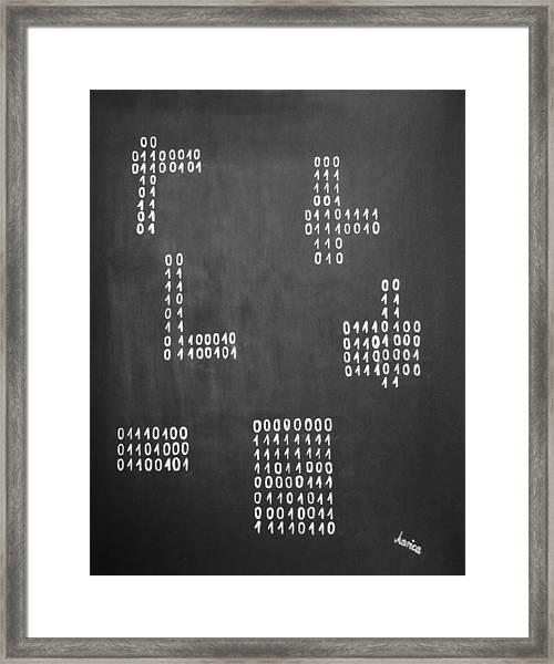 Hamlet - Binary Painting By Marianna Mills Framed Print