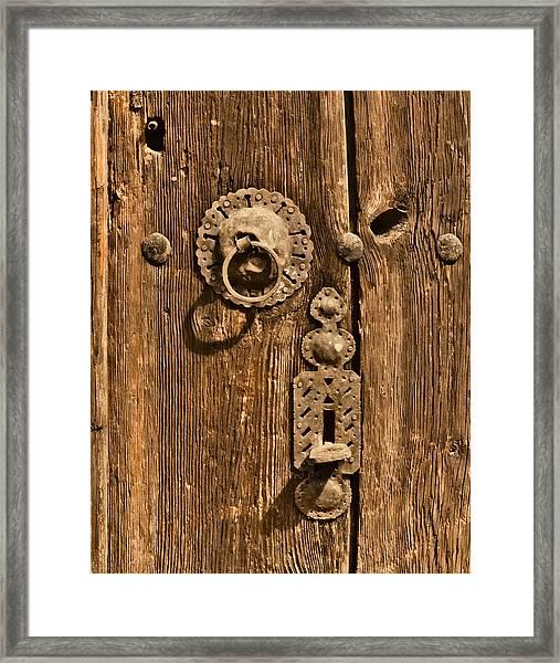 Framed Print featuring the photograph Safranbolu, Turkey - Hammered Hardware by Mark Forte