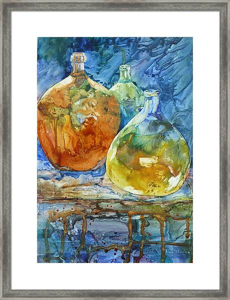 Handblown Framed Print