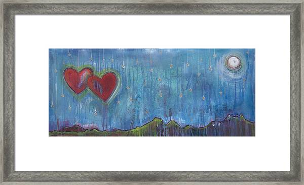 Framed Print featuring the painting Hang Among The Stars by Laurie Maves ART