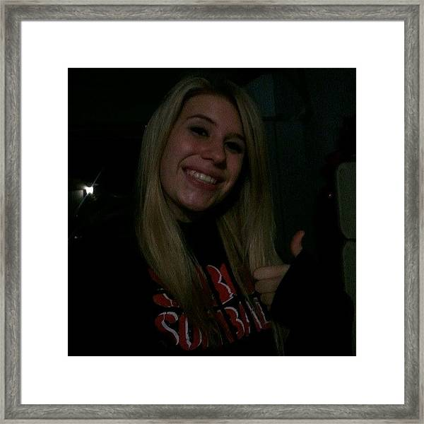 #hangingout #thumbsup #smile #blonde Framed Print