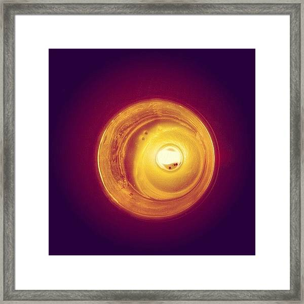 Happy Birthday #candle Framed Print
