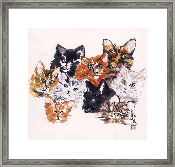 Happy Cats Framed Print